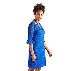 Yumi - Blue strapless lace 'Harlow' mini shift dress