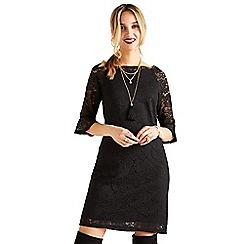 Yumi - Black strapless lace 'Harlow' mini shift dress