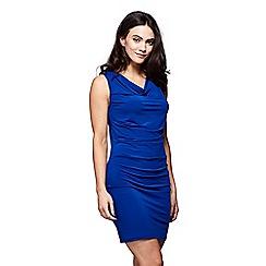 Yumi - Blue cowl neck 'Effie' bodycon jersey dress