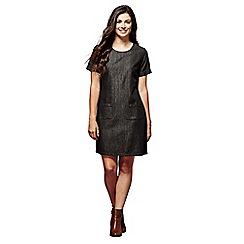 Yumi - Black denim 'Phoenix' mini tunic dress