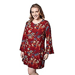 Yumi Curves - Orange butterfly and floral print tunic