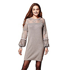 Yumi - Lace sleeves tunic jumper dress