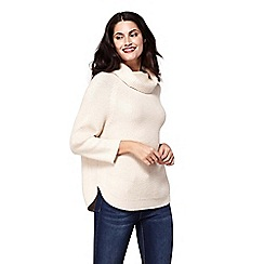 Yumi - Cream roll neck knitted jumper