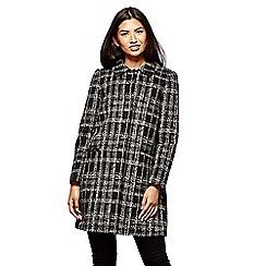 Yumi - Grey check print coat