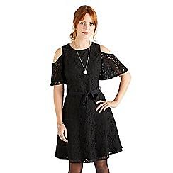 Yumi - Black cutout lace dress