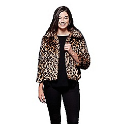 Yumi - Brown animal print jacket