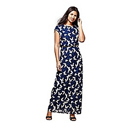 Yumi - Navy butterfly printed maxi dress