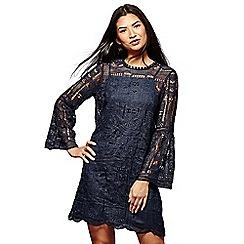 Yumi - Blue lace 'Shelby' mini tunic dress