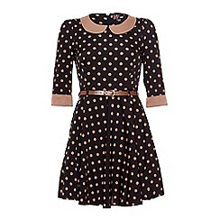 Yumi - Black Go dotty dress