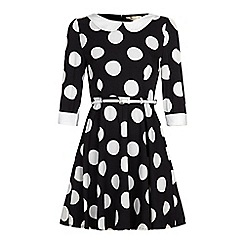 Yumi - Polka dot print skater dress