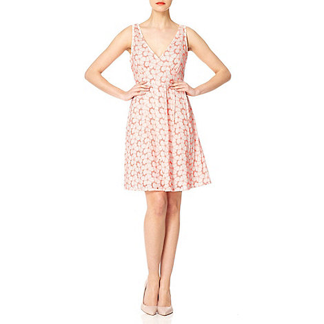 Yumi - Coral Neon floral dress