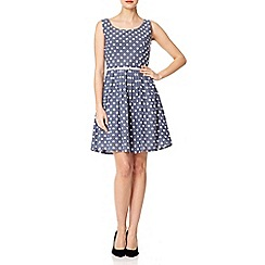 Yumi - Blue Dotty dress