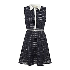 Yumi - Blue Sweet and chic shirt dress