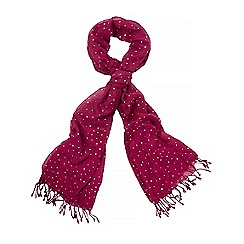 Yumi - Pink contrast knitted scarf