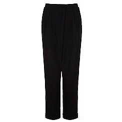 Yumi - Black wrap front trousers