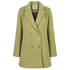 Yumi - Green double breasted fleck coat