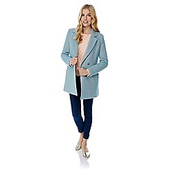 Yumi - Blue double breasted fleck coat