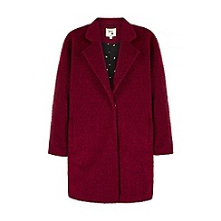 Yumi - Purple oversized boucle coat