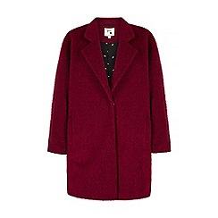 Yumi - Purple oversized boucle coat