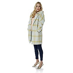 Yumi - Multicoloured  oversized check coat