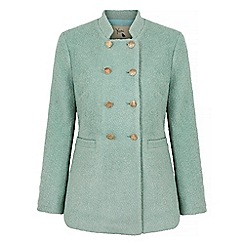 Yumi - Green double breasted pea coat