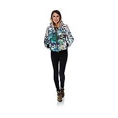 Yumi - Multicoloured Mountain Print padded Jacket