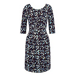 Yumi - Multicoloured geo print midi dress