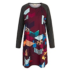 Yumi - Red Owl Digital Print Tunic Dress