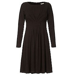 Yumi - Black long sleeve midi dress