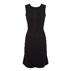 Yumi - Black Lace Frill Fitted Dress