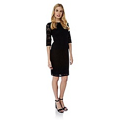 Yumi - Black lace fitted occasion dress