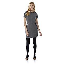 Yumi - Grey knitted shift dress