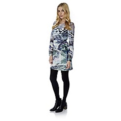 Yumi - Multicoloured  mountain print tunic dress