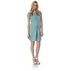 Yumi - Blue ruched fitted dress