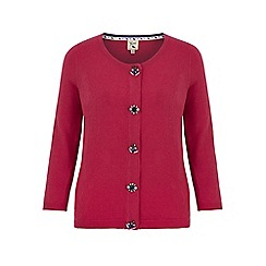 Yumi - Pink rhinestone embellished cardigan