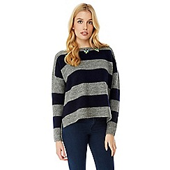 Yumi - Blue stripe embellished jumper