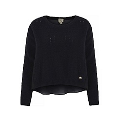 Yumi - Black high low hem jumper