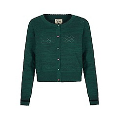 Yumi - Green Metallic Cardigan