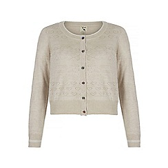 Yumi - Cream Metallic Cardigan