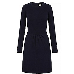 Yumi - Blue rib knit jumper dress