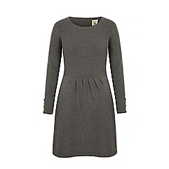 Yumi - Grey rib knit jumper dress