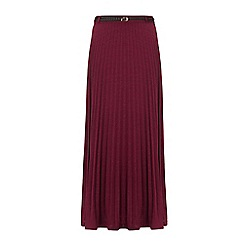 Yumi - Purple long pleated maxi skirt