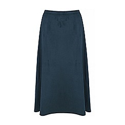 Yumi - Green faux suede midi skirt
