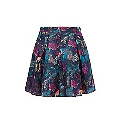 Yumi - Multicoloured butterfly print skater skirt