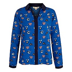 Yumi - Blue Telephone Print Shirt