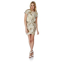 Yumi - Ivory Metallic Jacquard Top