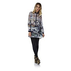 Yumi - Multicoloured  mountain print shirt dress