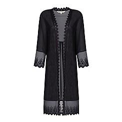 Yumi - Lace trim kimono