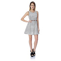 Yumi - Striped lace skater dress