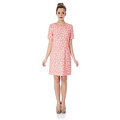 Yumi - Floral jacquard dress